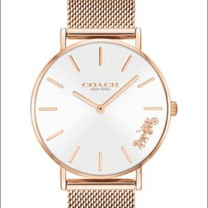 Rose Gold-Tone Stainless Steel Mesh Bracelet Watch